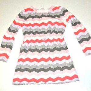 Gymboree Dress 12 stripes pink brown girls